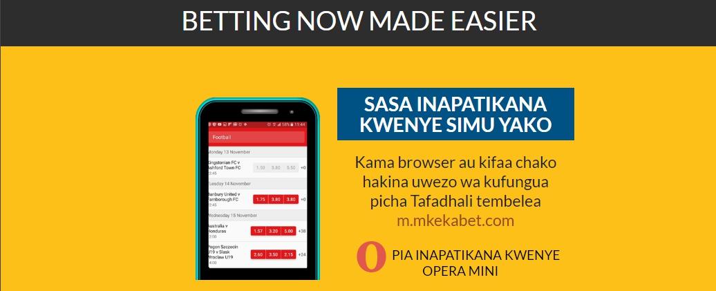 Mkekabet register via mobile
