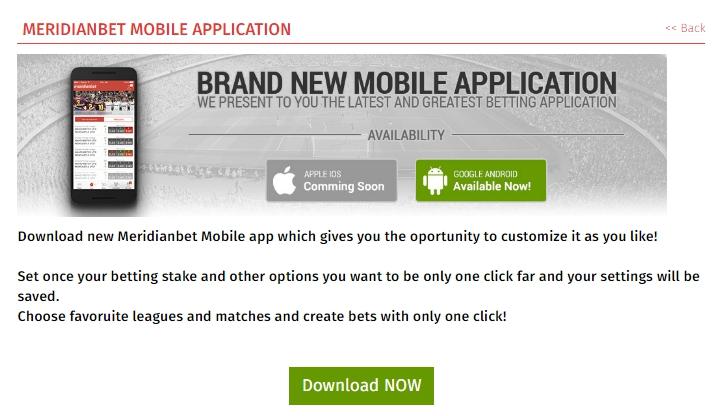 Meridianbet app download on iOS