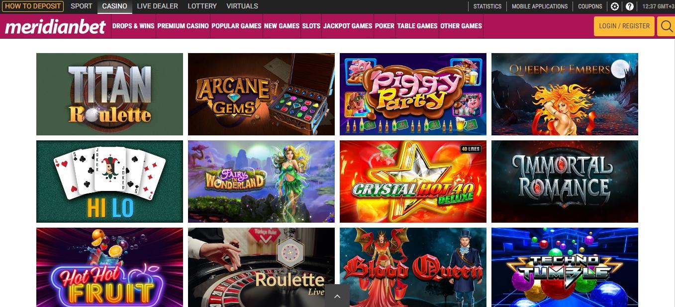 Meridianbet online casino