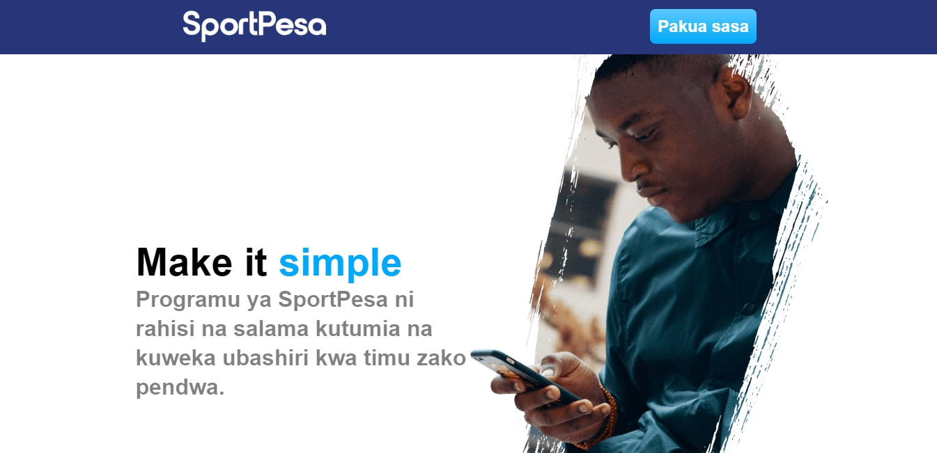 SportPesa mobile version of the website