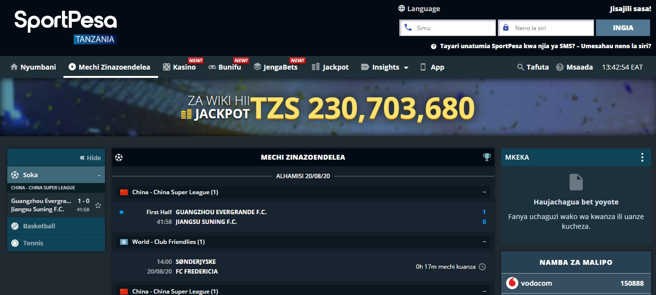 SportPesa app download go on iPhone